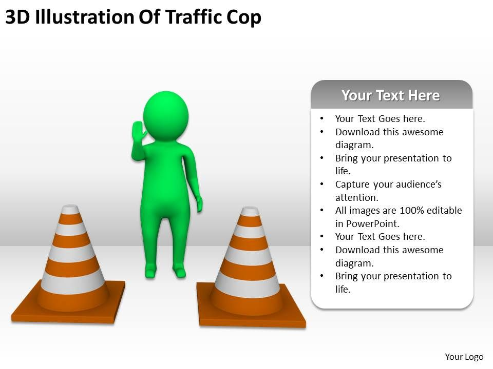 3d_illustration_of_traffic_cop_ppt_graphics_icons_powerpoint_Slide01