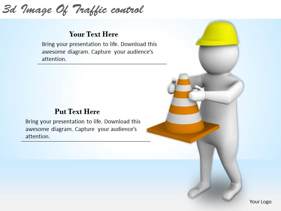 3d image of traffic control ppt graphics icons powerpoint