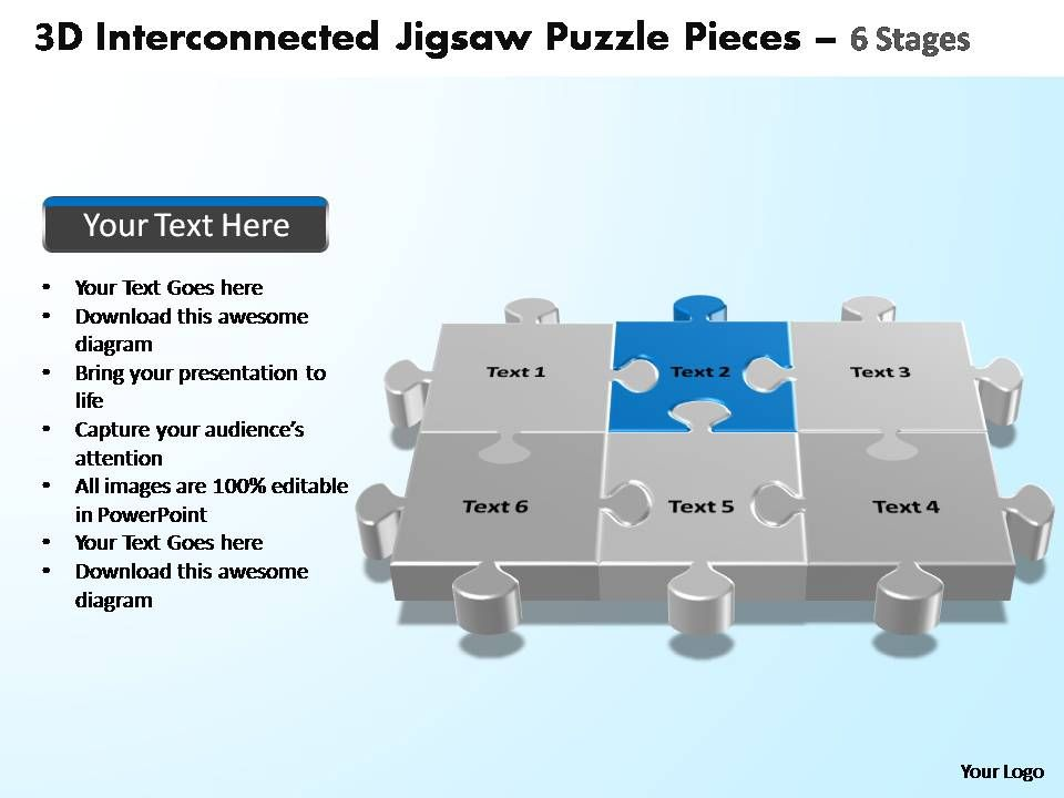 3d interconnected jigsaw puzzle pieces 6 stages powerpoint .  sc 1 st  vygogo & vygogo - a bargain crossword 25forcollege.com