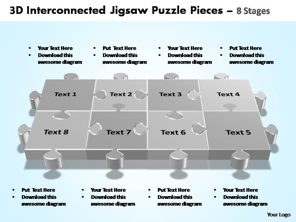 3d_interconnected_jigsaw_puzzle_pieces_8_stages_powerpoint_templates_Slide01