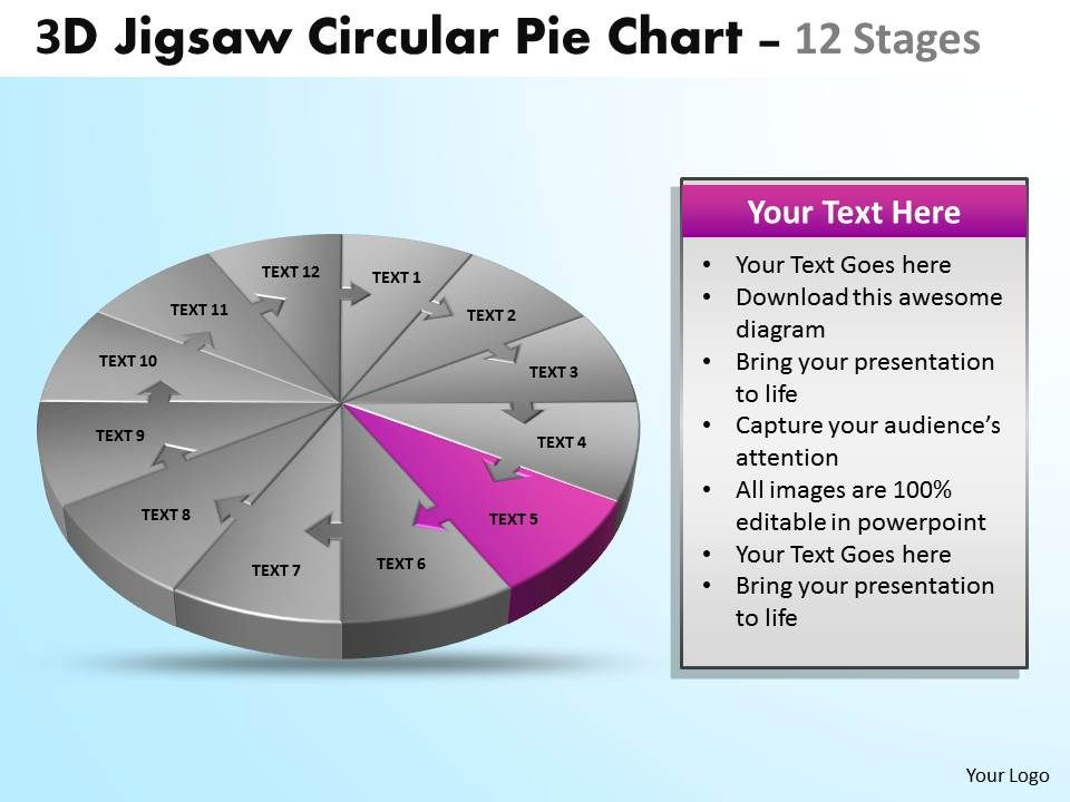 53607915 Style Division Pie-Jigsaw 12 Piece Powerpoint ...