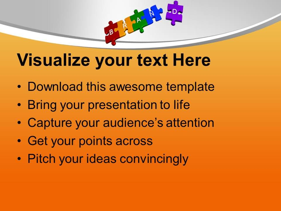 3d jigsaw puzzles of brand sales powerpoint templates ppt themes, Modern powerpoint