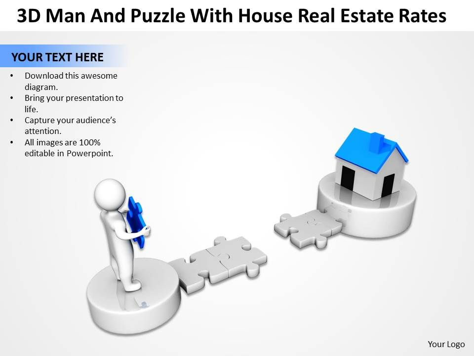 3d_man_and_puzzle_with_house_real_estate_rates_ppt_graphic_icon_Slide01