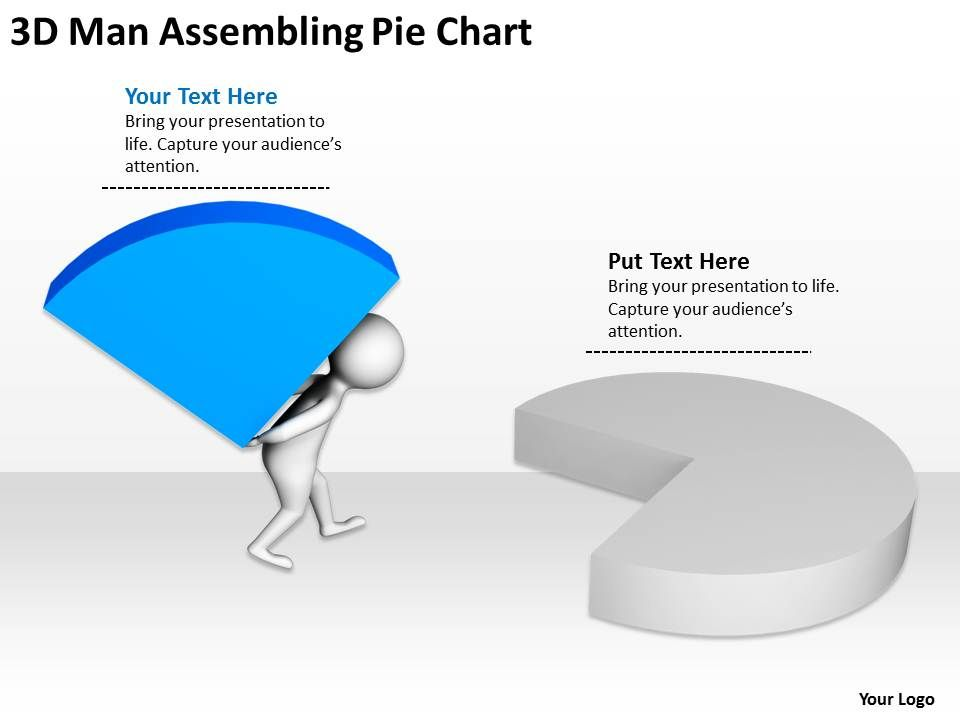 Man Pie-Chart PowerPoint