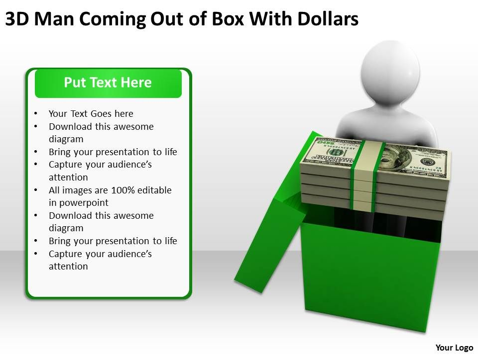 3d_man_coming_out_of_box_with_dollars_ppt_graphics_icons_powerpoint_Slide01