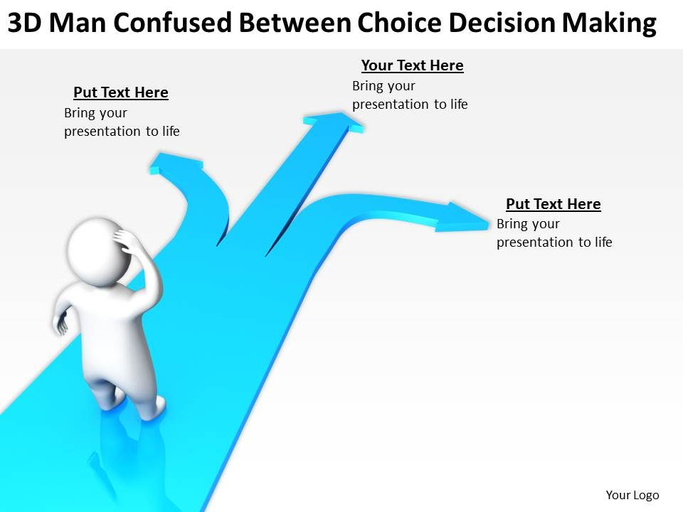 3d_man_confused_between_choice_decision_making_ppt_graphics_icons_Slide01