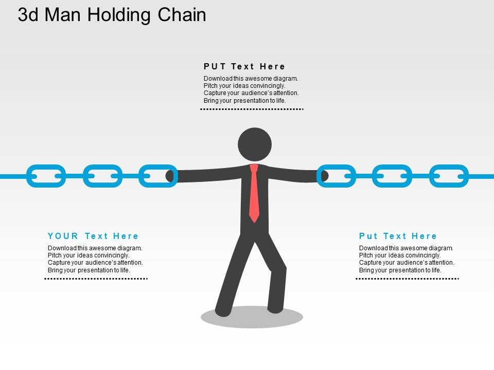 3d_man_holding_chain_flat_powerpoint_design_Slide01