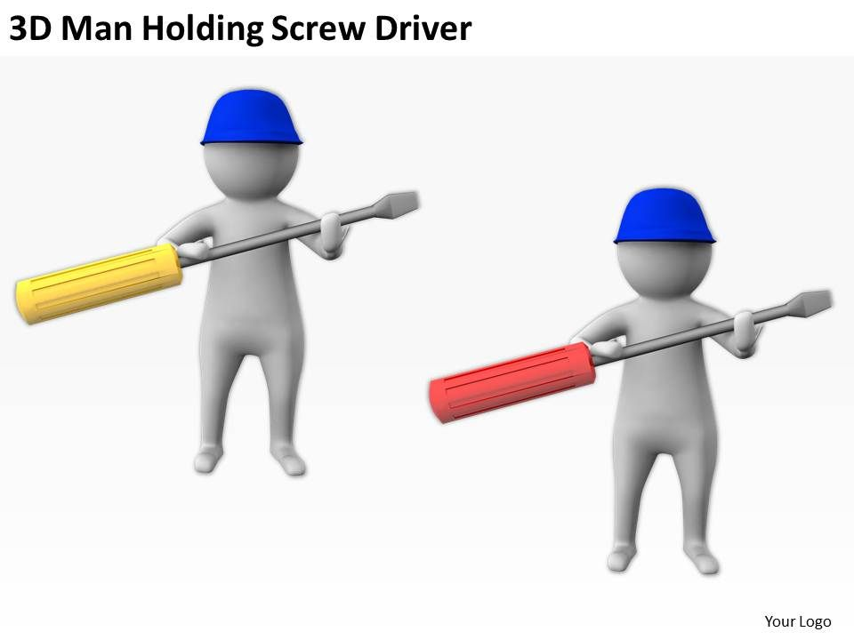 3d_man_holding_screw_driver_ppt_graphics_icons_powerpoint_Slide02
