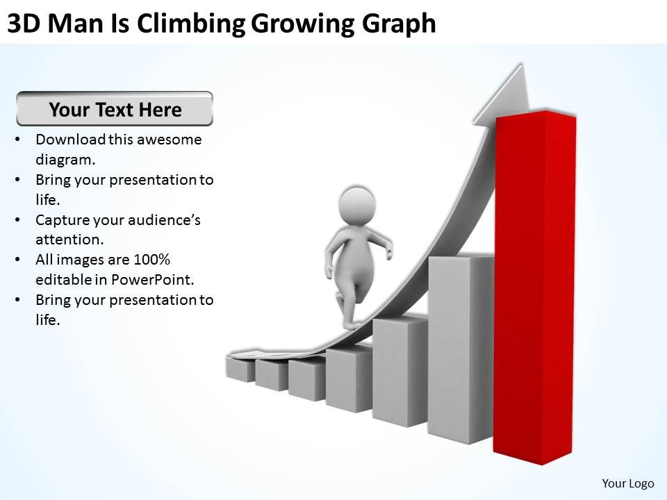 3d_man_is_climbing_growing_graph_ppt_graphics_icons_Slide01