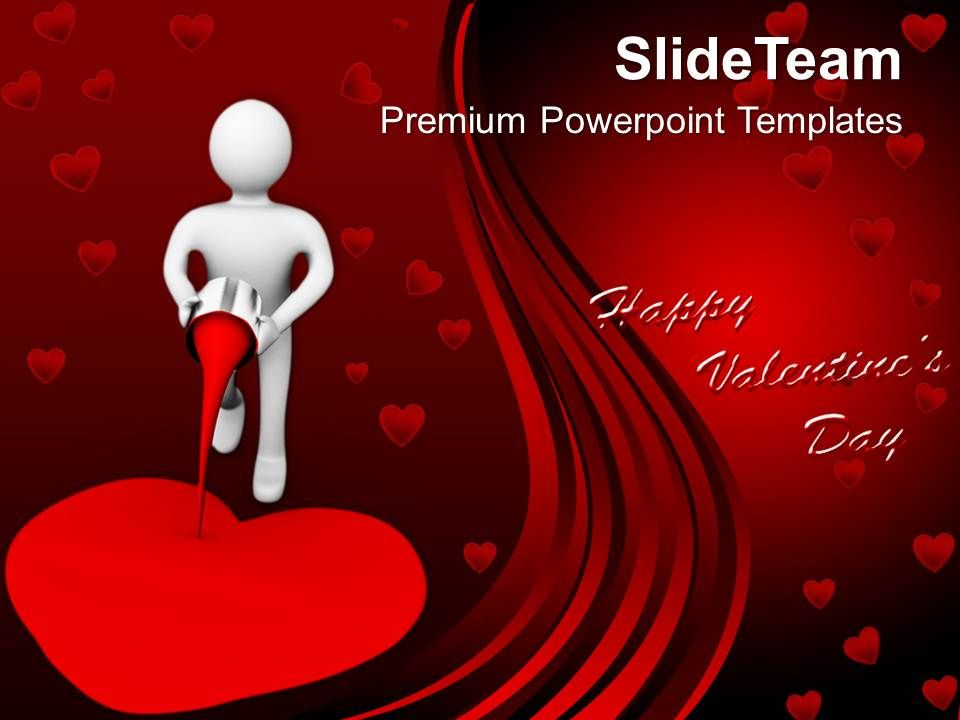 3d man painting the heart creativity powerpoint templates ppt themes