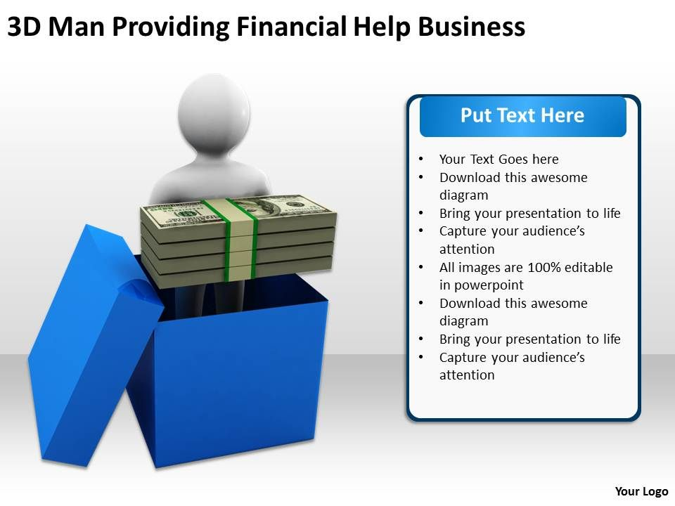 3d_man_providing_financial_help_business_ppt_graphics_icons_powerpoint_Slide01