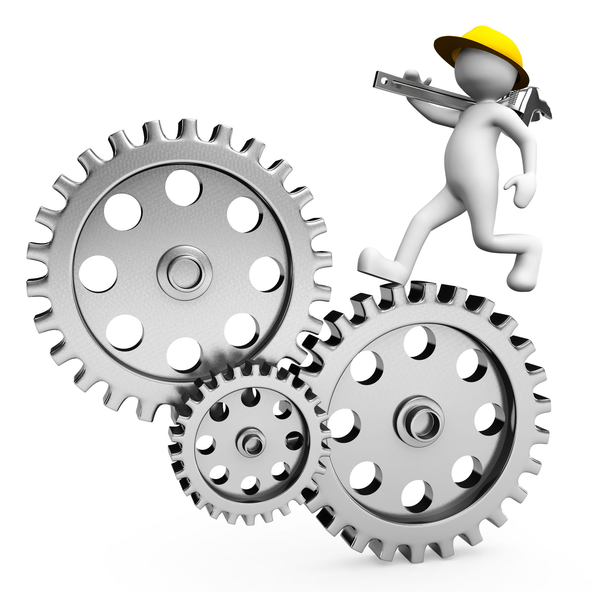3d_man_running_on_gears_for_process_control_stock_photo_Slide01