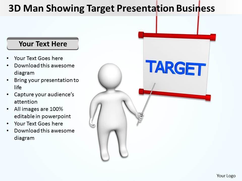 3d_man_showing_target_presentation_business_ppt_graphic_icon_Slide01