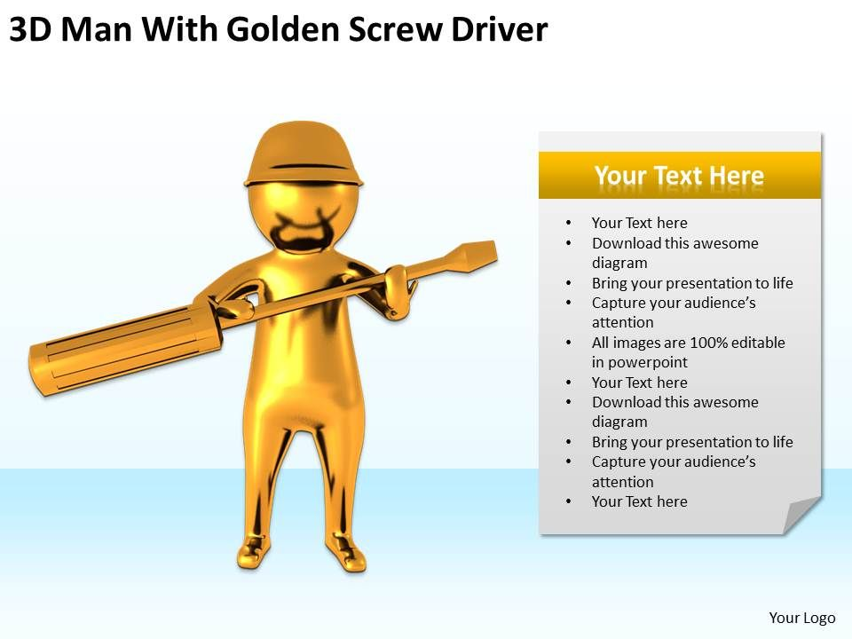 3d_man_with_golden_screw_driver_ppt_graphics_icons_powerpoint_Slide01