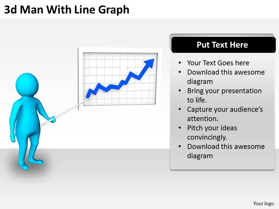 3d_man_with_line_graph_ppt_graphics_icons_powerpoint_Slide01