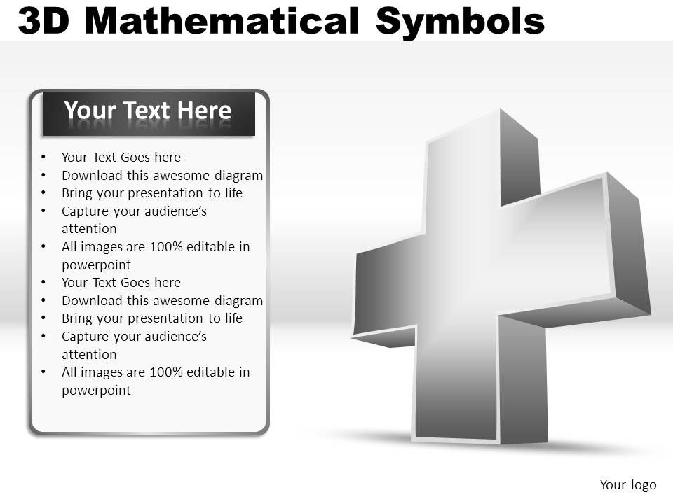 3d mathematical symbols powerpoint presentation slides powerpoint