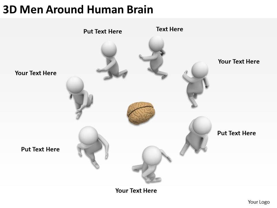 3d_men_around_human_brain_ppt_graphics_icons_Slide01