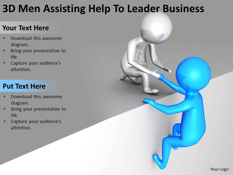 3d_men_assisting_help_to_leader_business_ppt_graphics_icons_powerpoint_Slide01