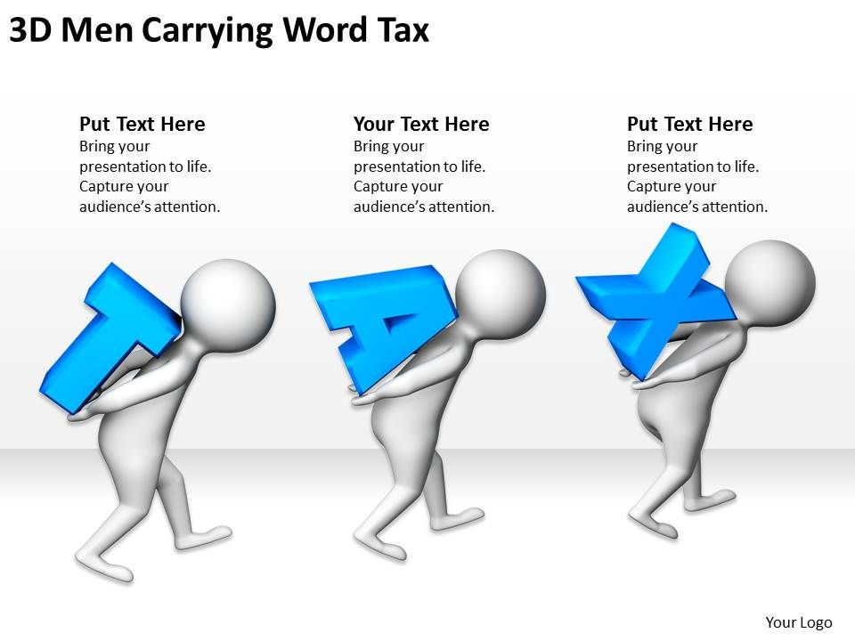 3d_men_carrying_word_tax_ppt_graphics_icons_Slide01