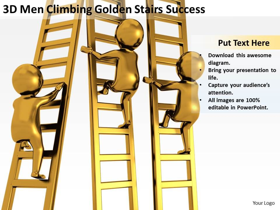 3d_men_climbing_golden_stairs_success_ppt_graphics_icons_powerpoin_Slide01