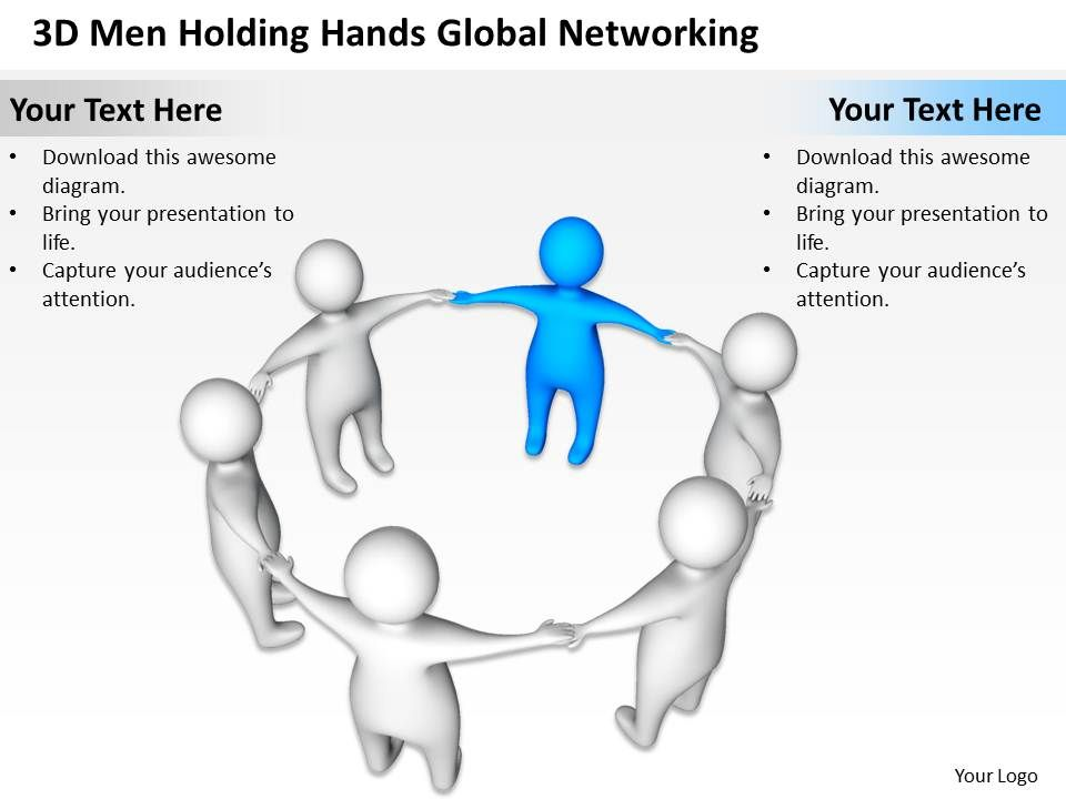 3d_men_holding_hands_global_networking_business_ppt_graphics_icons_Slide01