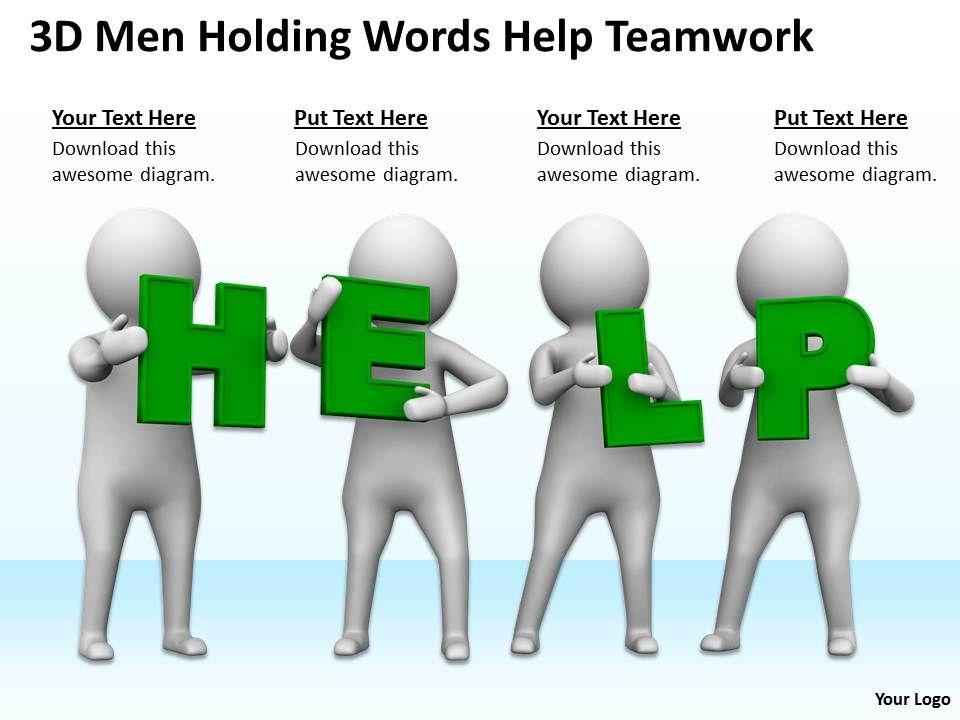 3d_men_holding_words_help_teamwork_ppt_graphics_icons_powerpoint_Slide01