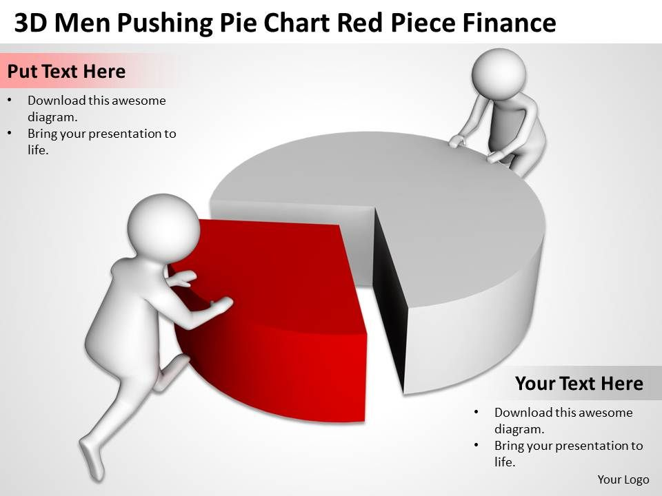 3d_men_pushing_pie_chart_red_piece_finance_ppt_graphics_icons_powerpoint_Slide01