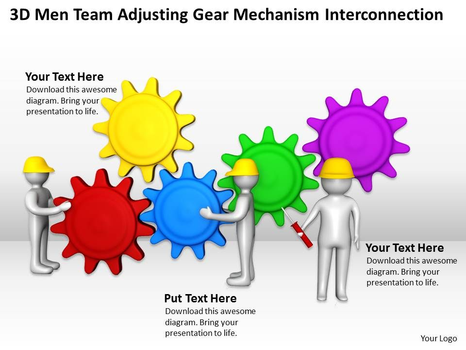 3d_men_team_adjusting_gear_mechanism_interconnection_ppt_graphics_icons_powerpoint_Slide01