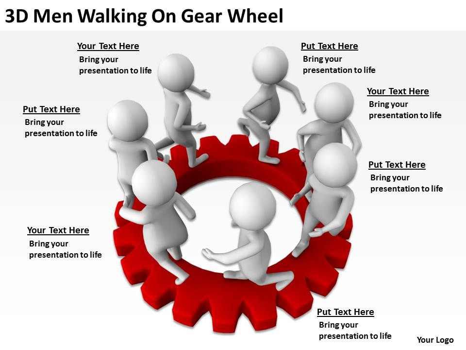 3d_men_walking_on_gear_wheel_ppt_graphics_icons_powerpoint_Slide01