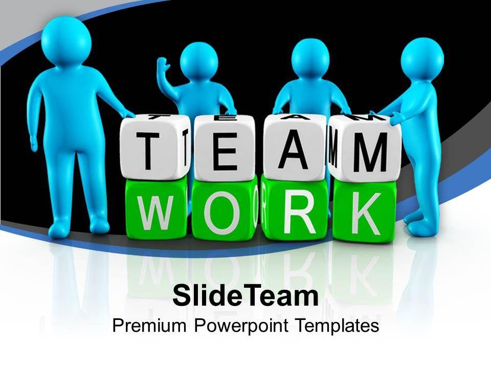 3d men working as team teamwork powerpoint templates ppt themes, Powerpoint templates