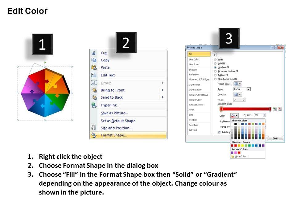 Skillfully Designed Sales Slides showing 3D Octagon Puzzle