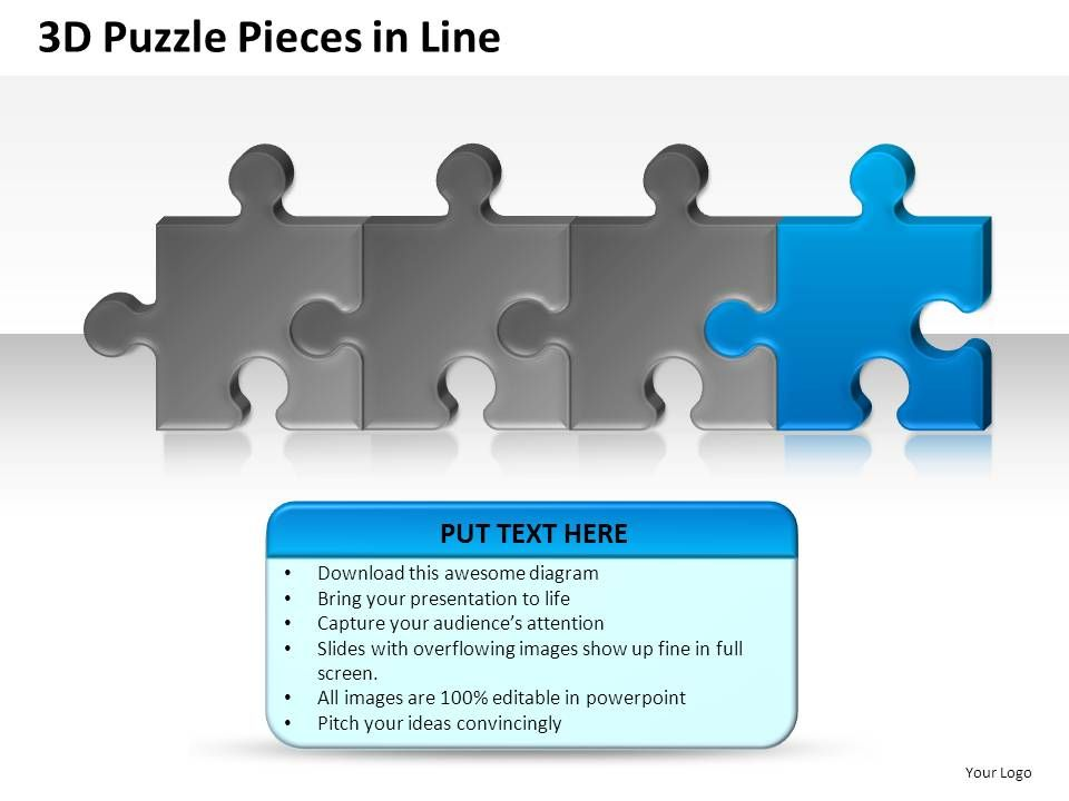 3d_puzzle_pieces_in_line_powerpoint_presentation_slides_Slide05