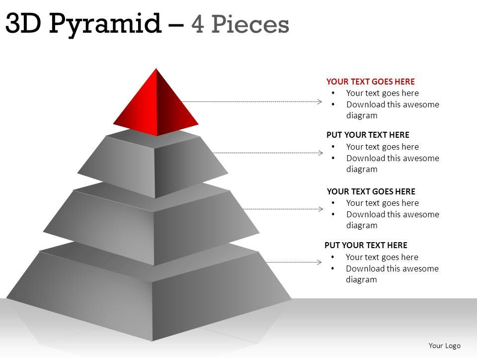 how to make a 3d pyramid in powerpoint