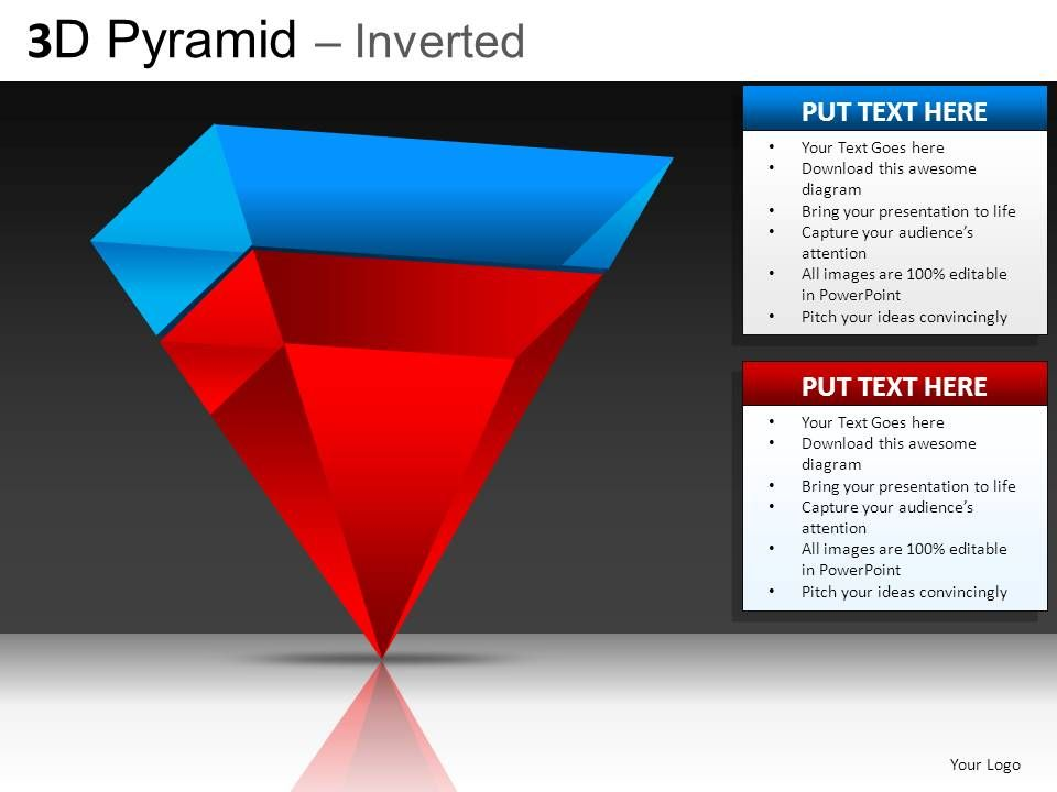... bases with our 3D Pyramid Inverted Powerpoint Presentation Slides DB
