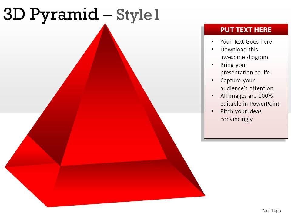 3d pyramid template images - templates design ideas, Modern powerpoint