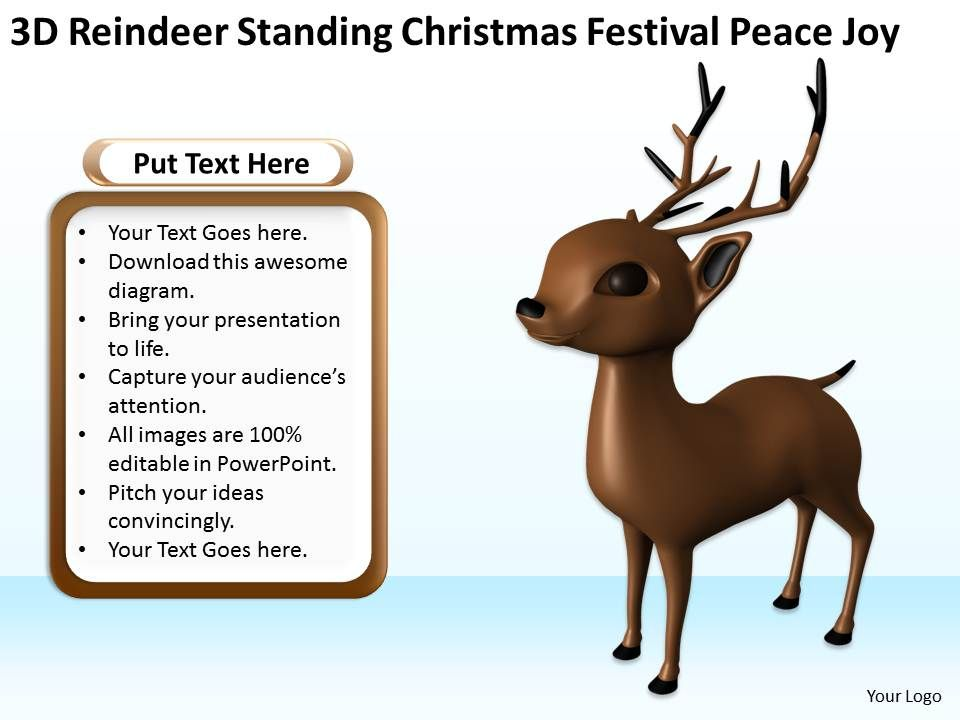 3d_reindeer_standing_christmas_festival_peace_joy_ppt_graphics_icons_Slide01