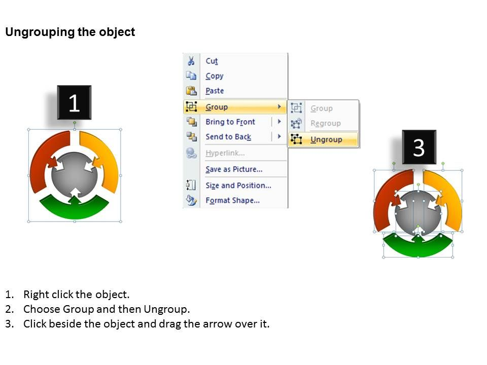 3d Round Chart 3 Stages Powerpoint Slides And Ppt Templates