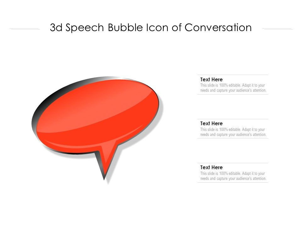 3d Speech Bubble Icon Of Conversation