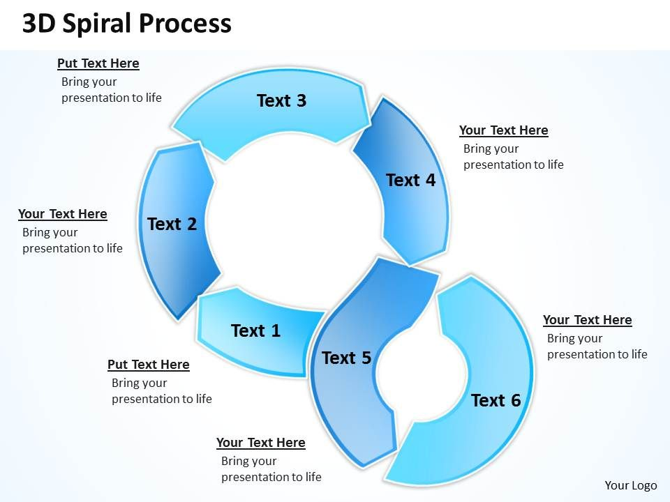 3d Spiral Process Powerpoint Slides Presentation Diagrams Templates