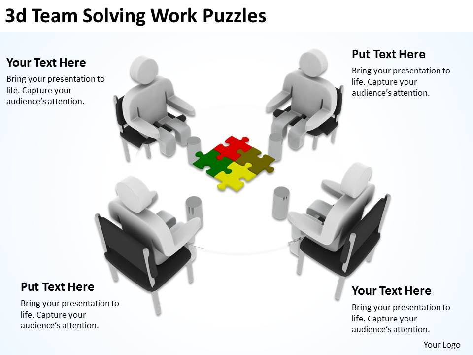 3d_team_solving_work_puzzles_ppt_graphics_icons_Slide01
