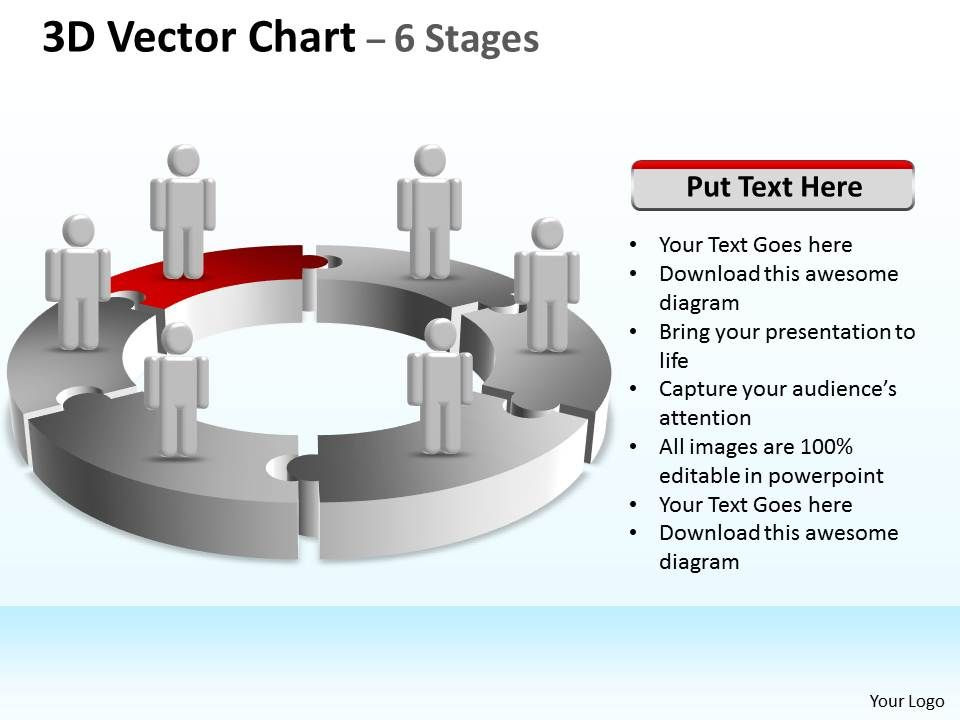 3d Vector Chart 6 Stages Templates Powerpoint Slides Ppt Presentation Backgrounds Backgrounds Presentation Themes