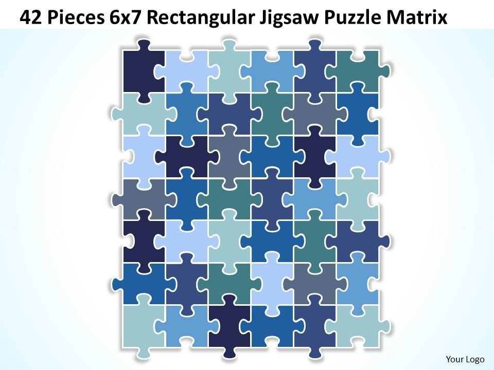 42 pieces 6x7 rectangular jigsaw puzzle matrix powerpoint 42pieces6x7rectangularjigsawpuzzlematrixpowerpointtemplates0812slide01 toneelgroepblik Choice Image