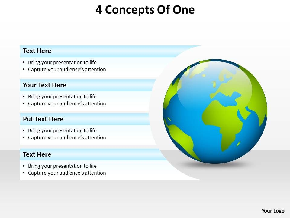 4_concepts_of_one_with_globe_earth_powerpoint_diagram_templates_graphics_712_Slide01