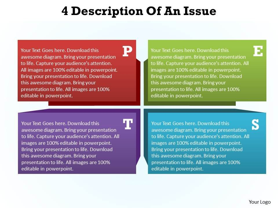 4 description of an issue pest analysis powerpoint diagram templates 4descriptionofanissuepestanalysispowerpointdiagramtemplatesgraphics712slide01 toneelgroepblik Gallery