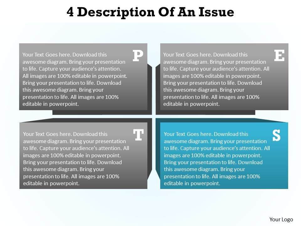 4 description of an Issue pest analysis powerpoint diagram templates ...