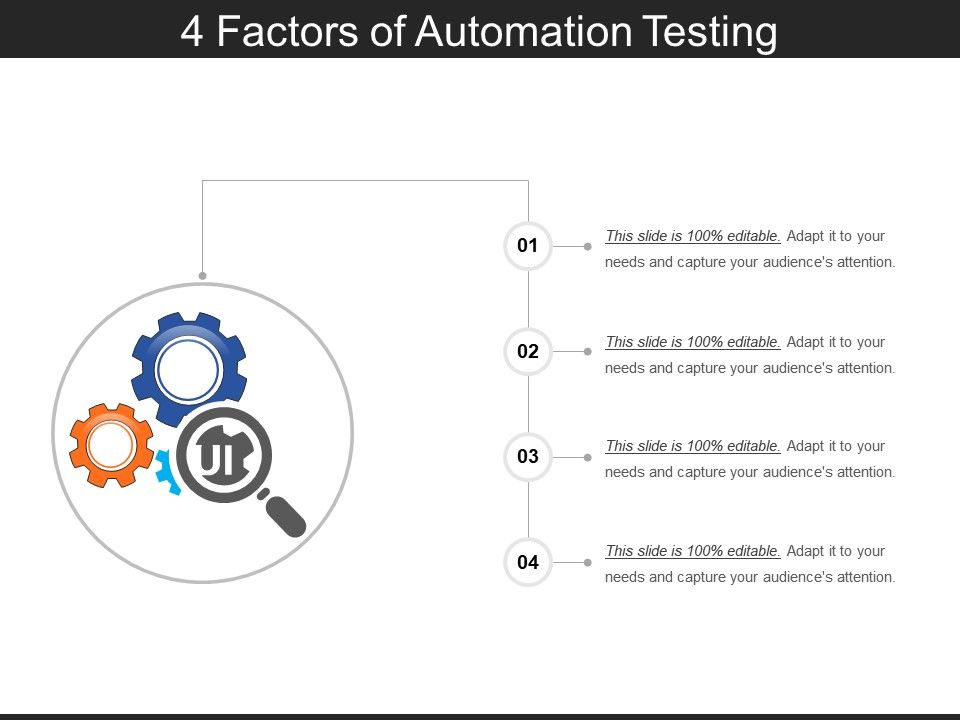 4_factors_of_automation_testing_ppt_images_gallery_Slide01