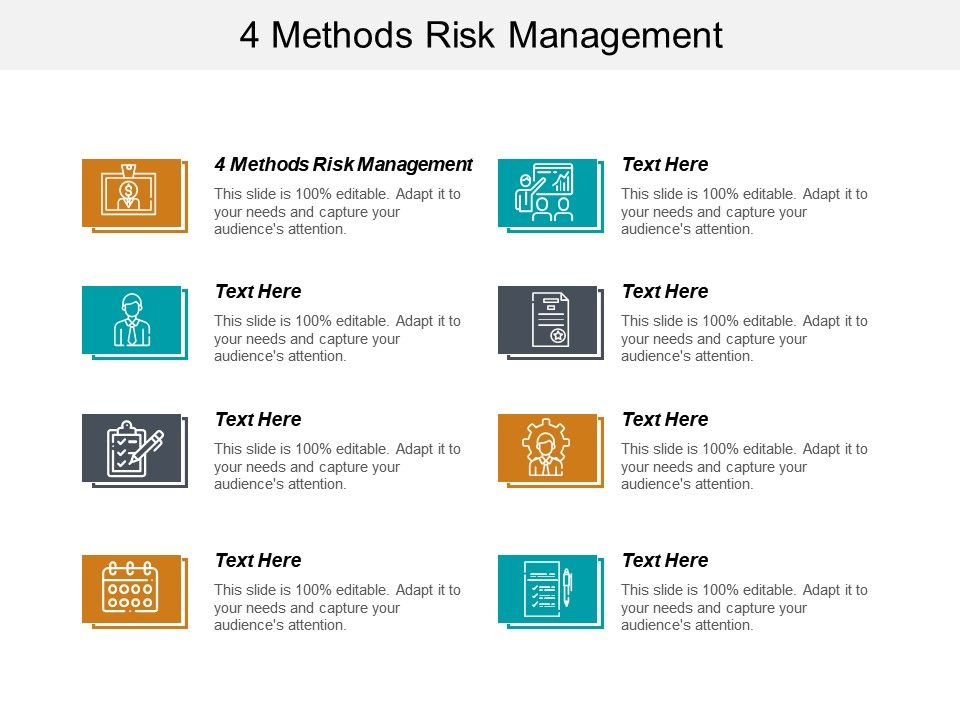 4 Methods Risk Management Ppt Powerpoint Presentation