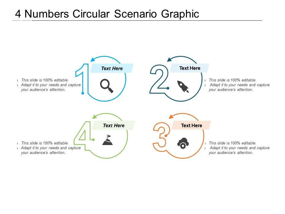 4 Numbers Circular Scenario Graphic