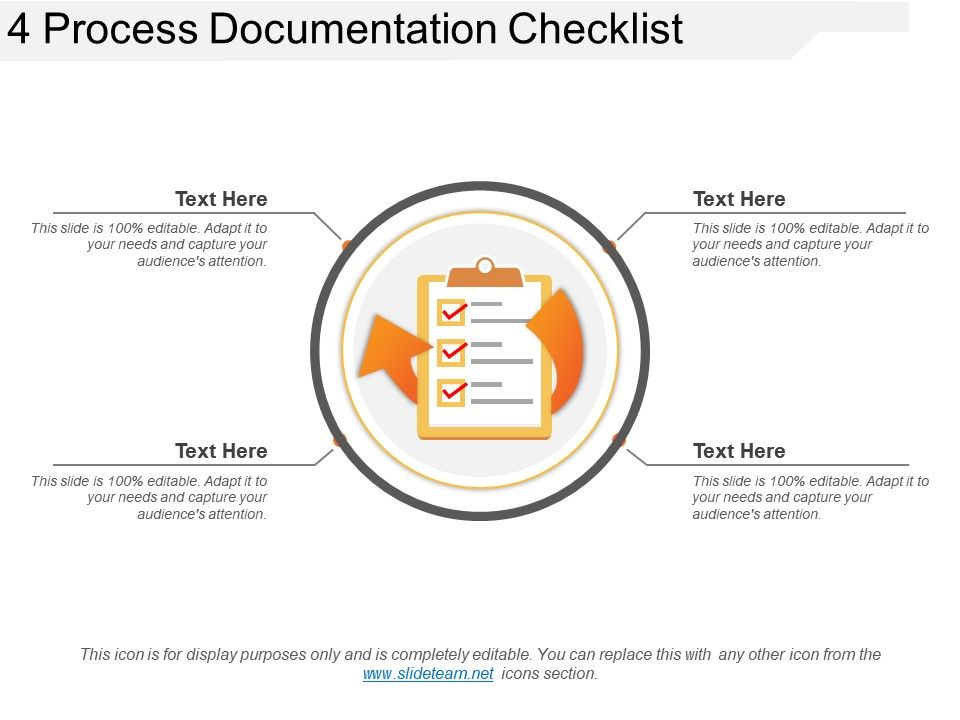 Process Documentation Checklist Example Of Ppt PowerPoint - Process documentation example