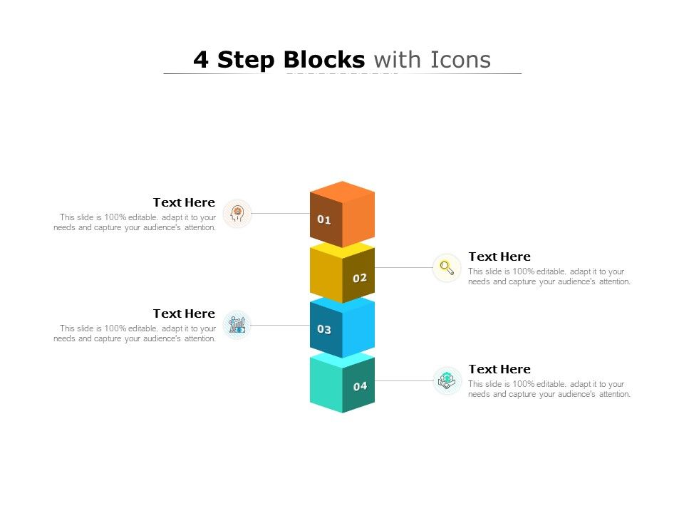 4 Step Blocks With Icons